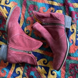 SEYCHELLES Burgundy Suede Lucky Penny Booties